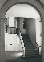 CD-035 Washington DC, The Stair, Octagon House Real Photo Postcard RPPC