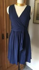 GARNET HILL Godess Siren Knit Dress NAVY Size Small Retail $88 SOLD OUT!