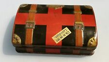London & North West railway sandwich box  lithograph tin travelling trunk