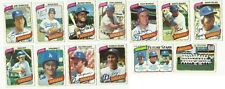 VINTAGE 1980 TOPPS Major League Baseball CARDS – Los Angeles Dodgers – MLB