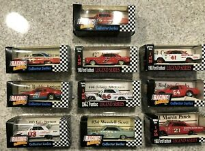 Nascar Racing Champions Legends 1960's 1980's 1/64 DieCast Lot of 10 New in Box