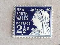 New South Wales - Australia QV stamp 2 1/2d blue MH