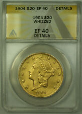1904 Liberty $20 Double Eagle Gold Coin ANACS EF-40 Details