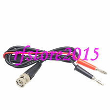 BNC Q9 male to 4mm dual banana plug Oscilloscope test probe cable leads 1M