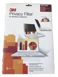 """3M Privacy Filter For Notebook Computers RPF15.6W. (13.57"""" x 7.64""""). NEW"""