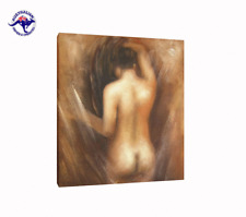 READY TO HANG NUDE ART NAKED WOMAN OIL PAINTING FRAMED WITH A WOODEN FRAME