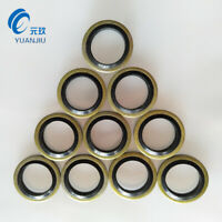 25 Pieces Lot Rubber Metal Bonded Washer Seal O Ring Gasket Fit M6