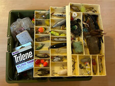 Vintage Old Pal 3 Tray Model Plastic Tackle Box Full Of Tackle / Lures