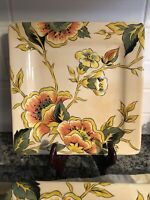Pier 1 Imports Set of  5 CASSANDRA Handcrafted Square Dinner Plates Earthenware