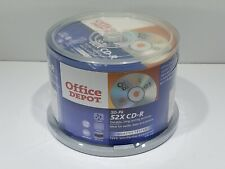 Office DEPOT 50 PACK CD-R Blank Media 80 MINUTES 700MB 52x