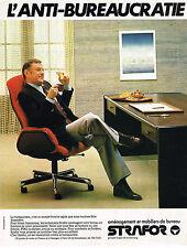 PUBLICITE ADVERTISING 025  1979  STRAFOR  mobilier bureau