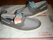 Tretorn Otto Canvas casual lace up sneaker, deck shoe, fashion sneaker gray 6.5