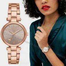 NWT 🌸 $175 KARL LAGERFELD KL5005 AURELIE ROSE GOLD-TONE BRACELET 34mm WATCH