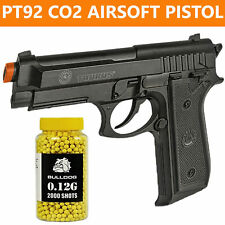 Taurus Officially licensed PT92 CO2 Gas Airsoft Pistol FPS 377 & 2000 Bulldog BB