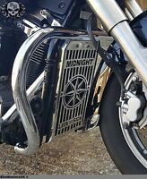 Yamaha XVS 1300 Midnightstar Inox Acier Radiateur Huile Housse Grille Protection