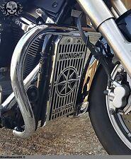 Yamaha XVS 1300 MIDNIGHTSTAR Aceite De Acero Inoxidable Radiador Parrilla Protector Cubierta