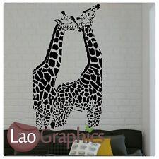 New listingx2 Hugging Giraffe Wall Stickers Transfer Graphic Decal Decor Large Home Art Uk
