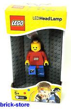 LEGO ® - LED personaggi HEAD LAMP CON CLIP/Corpo rosso/pantaloni blu