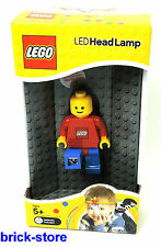 LEGO ®   - LED Figuren Head Lamp mit clip /  Körper rot /  Hose blau