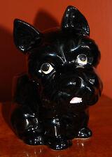 VTG Mid Century Relpo Ceramic Black Scottie Scottish Terrier Puppy Dog Planter