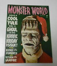 1965 MONSTER WORLD Magazine #6 VF+ Holiday Issue ZOMBIES Vampire WARREN