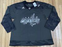 Adidas Washington Capitals Hockey Jersey Camo Military Appreciation Mens Sz 60