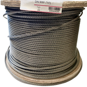Wire Rope Stainless Steel 7x7 2mm-6mm DIN-3055 A4 Marine Grade Balustrade Cable