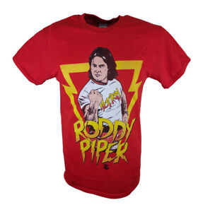 Rowdy Roddy Piper Legends Collection WWE Mens Red T-shirt