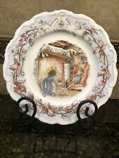 "Royal Doulton ""Brambly Hedge ~ Winter"" Jill Barklem 1982 Series Of Mice Plates"