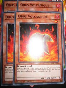 YU-GI-OH! COM PLAYSET (LOT DE 4) OBUS VOLCANIQUE SDSB-FR021 NEUF EDITION 1