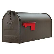 Large Premium Steel Rural Designed Mailbox Bronze Solar Group Post New Mail Box