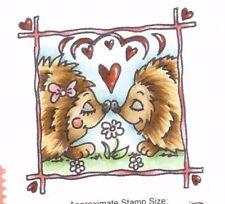 COTTAGE IMPRESSIONS clear stamp HEDGEHOGS Love Birthday Valentine (Retired)