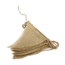 2.5m Rustic Jute Hessian Burlap Lace Bunting Shabby Chic Wedding Banner Party