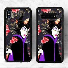 Maleficent Floral Disney Phone Case(iPhone Models Samsung 10, Google Pixel 3A)