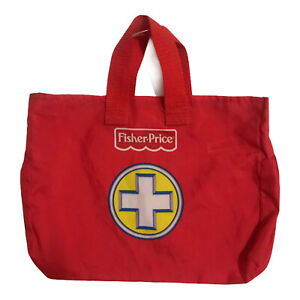 Fisher Price Doctors Nurse Medical Red Fabric Bag Replacement VGC