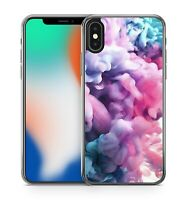Airbrush Painted Pink Lush Purple Cloud Explosion Fine Pattern Phone Case Cover