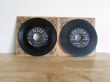 """Lot of 2 ERNEST TUBB What am I Living For My Wasted Past 7"""" 45 RPM Decca Records"""