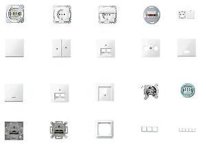 Merten Schalter, Steckdosen u.a. System M, Atelier polarweiß glänzend