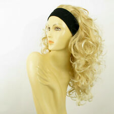 headband wig long curly golden blond blond wick clear ODESSA 24BT613