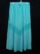 Skirt Turquoise blue Old West Pioneer Boho Victorian Edwardian Ren Faire New