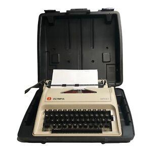 Olympia Carina 1 Manual Typewriter In Case - TESTED