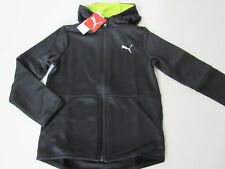 PUMA Toddler Boys Black/Volt Back Graphic Full Zip Hoodie Jacket size 6 NEW