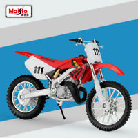 New Miniature Maisto 1:18 Scale HONDA CR250R Motorcycle Diecast Model Toys