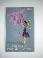 Playbill Thoroughly Modern Millie Paper Mill Playhouse Theatre April May 2013
