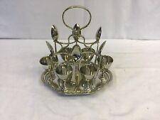 Vintage Silver Plate Egg Cup Set
