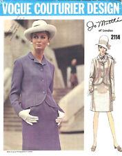 1968 Vintage Vogue Sewing Pattern B36 Suit Jacket & Skirt (1668) Jo Mattli