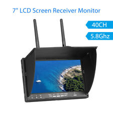 """5.8Ghz 40CH 7"""" LCD Screen Dual Diversity Receiver Monitor Durable For RC Drone"""