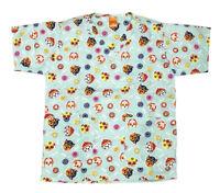 Nickelodeon Nursing Medical Pediatric Scrubs Shirt Top Paw Patrol Light Blue L