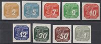 Stamp Germany Bohemia Czech Mi 117-25 Sc P11-9 1943 WWII Newspaper MNH