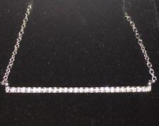 "28 diamonds bar necklace 18"" with 14k white gold chain 0.14 t.c.w. G-VSI2"